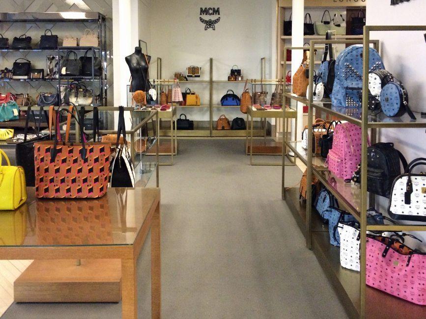 Image Of Custom Retail Interior In Handbag Display Project For Mcm At